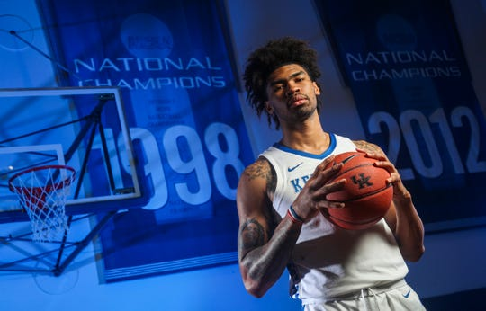 Junior Nick Richards will be one of Kentucky's big men returning for the Wildcats. Richards had 147 points, 123 rebounds and a career-high 47 blocks, which led the team.