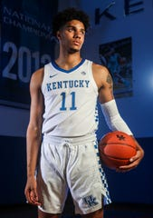 Freshman guard Dontaie Allen of Pendleton County, Kentucky, became the first in-state signee for Kentucky since 2013 and the 18th Kentucky player in program history to earn Kentucky Mr. Basketball honor.