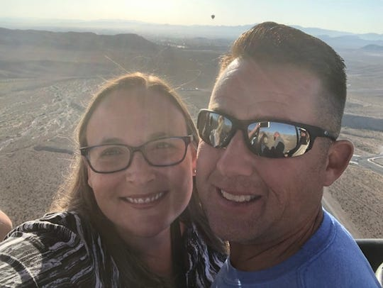 Dr. Shawna Stenton (left) and her husband, Tom Stenton, are back home in Louisville after suffering injuries in a Sept. 12, 2019, hot air balloon crash outside Las Vegas, Nevada.