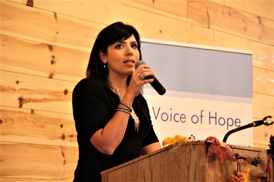 Melissa Ohden, founder of the Abortion Survivors Network based in Kansas City, was the keynote speaker during the Voice of Hope Pregnancy & Family Center's annual banquet on Thursday in Waldo. As an infant, Ohden survived a saline infusion abortion. She is now a speaker and author.