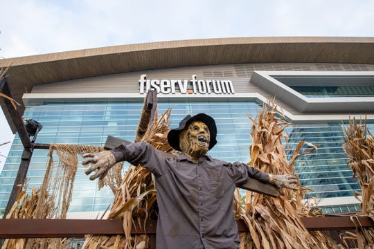 The Fear District, with three haunted houses and Halloween-themed libations, awaits outside Fiserv Forum.