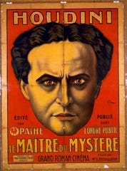 """A French promotional poster for """"Houdini - Le Maître du Mystère,"""" from about 1915, is part of """"Inescapable: The Life and Legacy of Harry Houdini,"""" now open at Jewish Museum Milwaukee."""