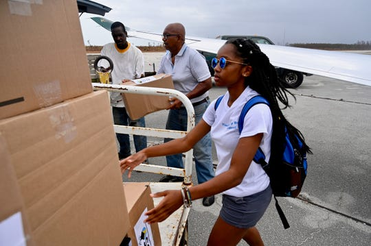 Tiara Ashley Brown, president of MTSU's Bahamian Student Organization, accompanied university officials on Friday's trip to Freeport, Bahamas to deliver supplies as part of the Raider Relief efforts.