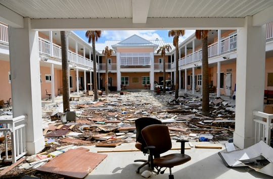 The campus of University of The Bahamas-North on Grand Bahama Island was devastated by the storm.