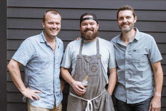 Gabe Scott, Andrew Wiseheart and Ben Edgerton of Ladybird Taco, coming in 2020 to 12South.