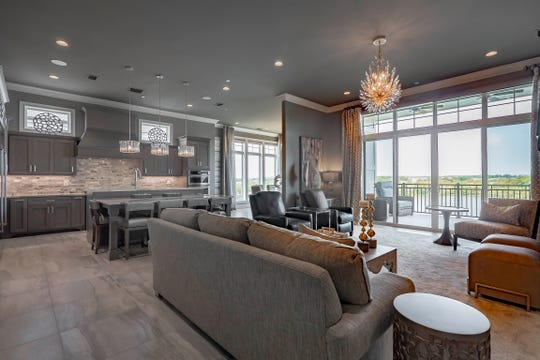 Wanda and Ed Sloan's condo in Revery Point has 2,660 square feet, but the open floor plan makes it feel larger.
