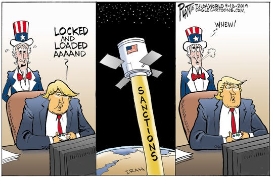 """Locked and loaded"" vs. Iran."