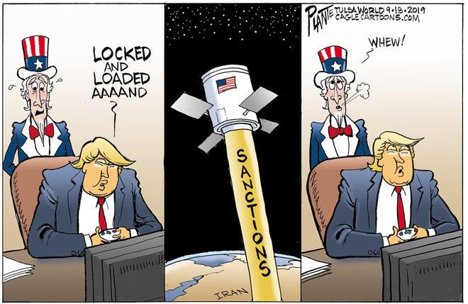 """""""Locked and loaded"""" vs. Iran."""