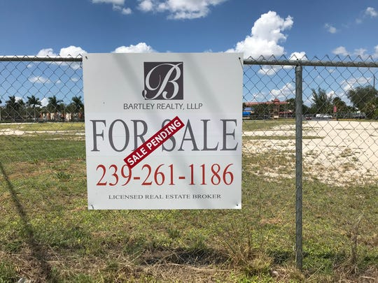 "This photo, taken Sept. 10,  2019, shows land slated for a condo-hotel  in East Naples is under contract.  The agent says the buyer is an ""experienced developer."""