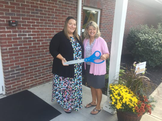 Cassie Davis, preschool director, and LaVonne McIlrath, head of school for Liberty Christian Academy, at the official ribbon cutting Sept. 20 for the new preschool.