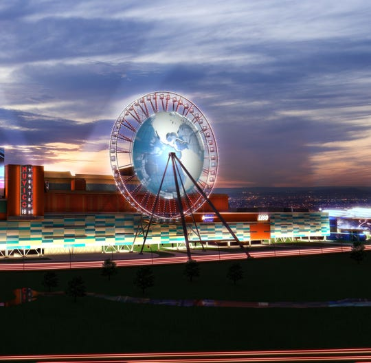 Rendering of Proposed ferris wheel  at the Xanadu project.