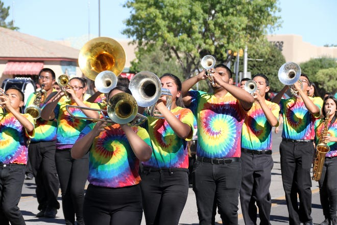 The Deming High School Wildcat Marching Band made an appearance during the 2018 Southwestern New Mexico State Fair Parade in Deming, NM.