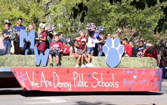 Deming Public Schools usually makes an annual appearance in the parade. Here is the 2018 Memorial Elementary School float.