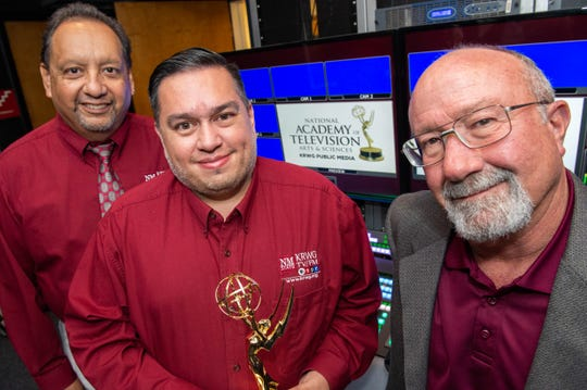 "From left, Ralph Escandón, Christian Valle and Joe Widmer recently won a joint Rocky Mountain Emmy Award for their work on the half-hour ""Best of Living Here"" show."