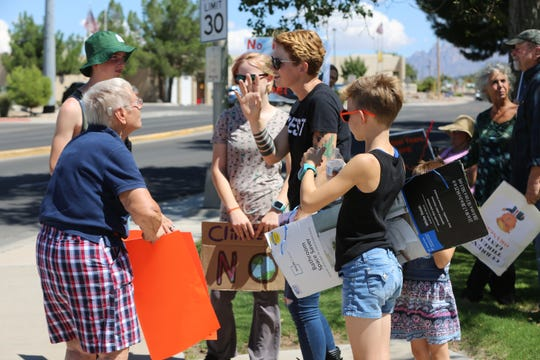 All ages gather at Albert Johnson Park in Las Cruces for the Global Climate Strike, Friday Sept. 20, 2019.
