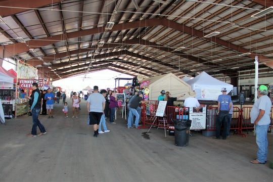 There were booths galore in the pavilion at the Otero County Fair and Rodeo. The 80th Otero County Fair and Rodeo goes from Sept. 18-22.