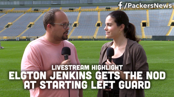 Olivia Reiner and Ryan Wood discuss Elgton Jenkins' opportunity to start at left guard in place of an injured Lane Taylor.