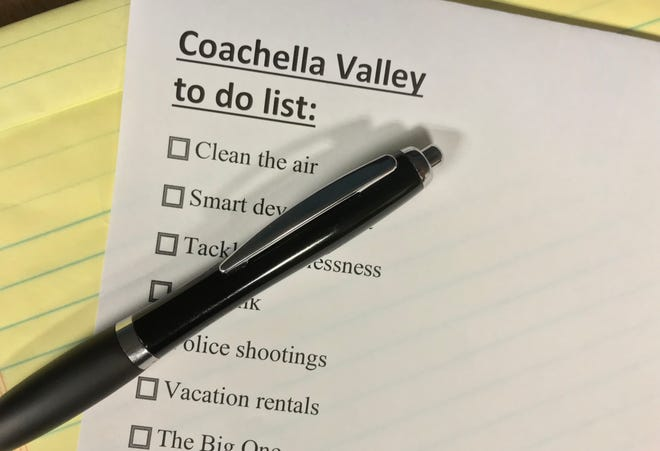 Forget the world's problems, as the Coachella Valley has plenty of its own concerns to confront, writes Samm Coombs.