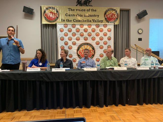 Candidates for Palm Springs City Council speak at a forum held at the Mizell Senior Center on Sept. 19, 2019. Samm Coombs offers his view on why older citizens are so politically active.