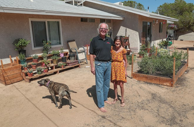 Ron and Nancy Moore were homeless but now have a home in Joshua Tree, Calif., August 29, 2019.