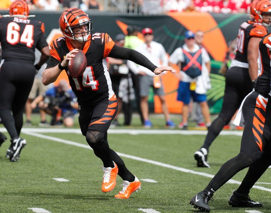 Andy Dalton has topped 300 yards passing in each of the first two games for the Bengals.