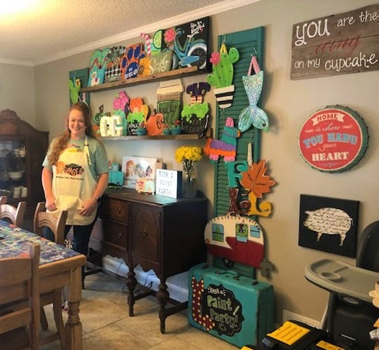 Owner of Cracked Ginger, Meghan Lunsford, works the business from her San Angelo home.