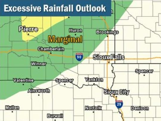 Some parts of central and southeast South Dakota could see heavy rain on Friday, Sept. 20, 2019.