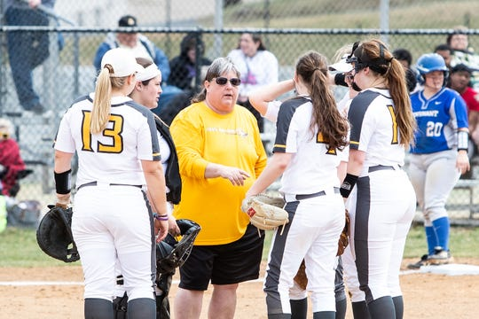 Christy Shelton (yellow shirt) has been named Mary Baldwin's associate director of athletics.