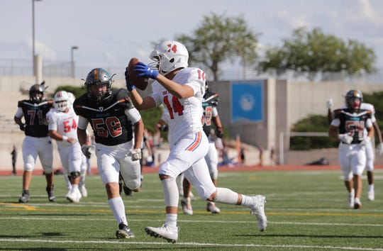 Pebble Hills takes on San Angelo Central at the SAC on Sept. 20, 2019 in El Paso, Texas.