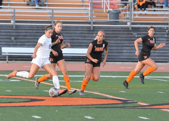 In search of more goals, Ventura College head coach Steve Hoffman has moved former Ventura College defender Sammy Zanini (9) to forward ahead of Saturday night's playoff opener in Santa Barbara.