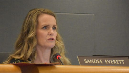 Trustee Sandee Everett often is in the minority on the school board. She contends sex education issues facing the board could make some parents take their kids out of the district.