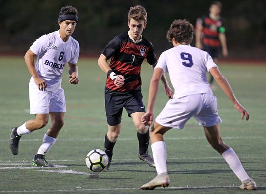 Byram Hills defeats Rye 1-0 during boys soccer game at Rye High School Sept.19, 2019.