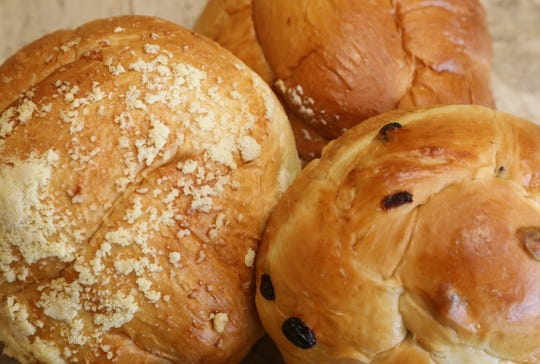 Crumb, plain and raisin challah are pictured at The Challah Fairy in New City, Sept. 20, 2019.