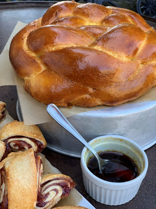 The challah at Red Barn Bakery in Irvington is made with organic ingredients.