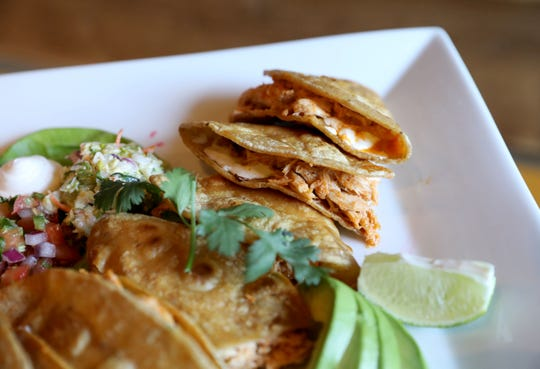 The organic chicken quesadilla at the Tipsy Taco Bar in Mount Kisco, Sept. 20, 2019.