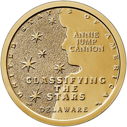 A new U.S. Mint coin now available for purchase recognizes Annie Jump Cannon, an astronomer from Delaware who developed the star-classifying system that is still used today.
