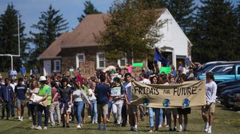 Over 500 students from Students from Wilmington Friends and the Charter School of Wilmington gathered on Friday afternoon to participate in a rally and walk as part of a worldwide Global Climate Strike.l