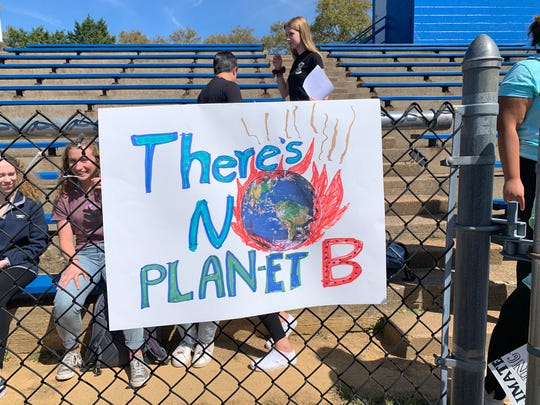Students at Cab Calloway participating in the climate strike Friday, Sept. 20, 2019.