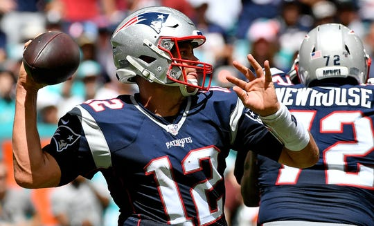 Tom Brady looks to move the Patriots to 3-0 when they face the Jets on Sunday.