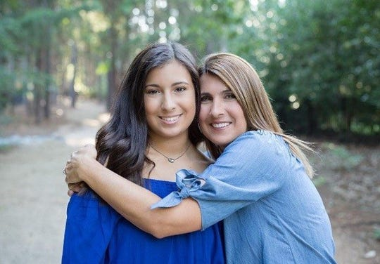 Susan Wind, right, and daughter Taylor in  Mooresville, North Carolina, in 2017.