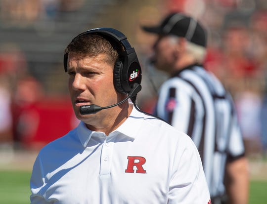 Rutgers Head Coach Chris Ash during Rutgers Football vs Boston College in Piscataway, NJ on 9/21/19.R
