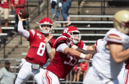 Rutgers quarterback Artur Sitkowski. Rutgers Football vs Boston College in Piscataway, NJ on 9/21/19.