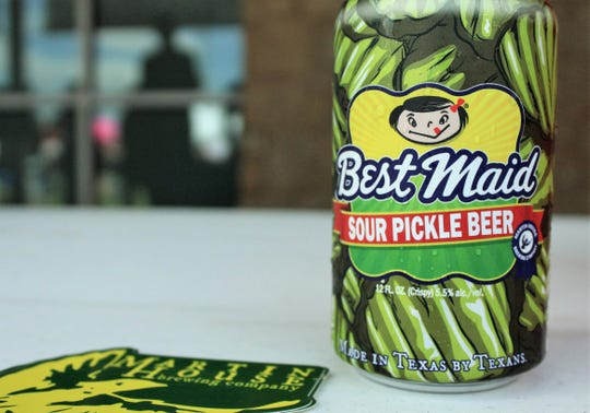 Pickle fans and the curious were anxious to taste this beer from Martin House, a Fort Worth brewery, at Saturday's Abilene Beer Summit at Frontier Texas! Pickles come from Fort Worth-based Best Maid.