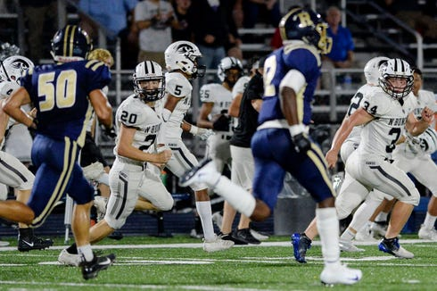 North Buncombe defeated Roberson 20-14 September 20, 2019 in Asheville.