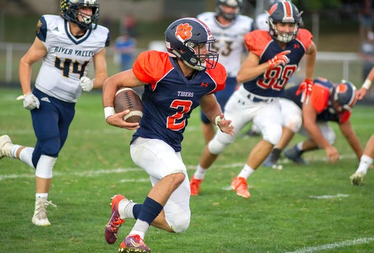Galion's Isaiah Alsip is nearing 1,000 receiving yards this season.