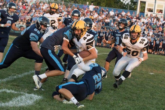 Paint Valley's Cruz McFadden runs the ball during a 21-14 win over Adena on Friday, September 20, 2019, in Frankfort, Ohio.