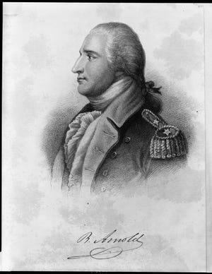 Benedict Arnold by Pierre Eugene du Simitiere.