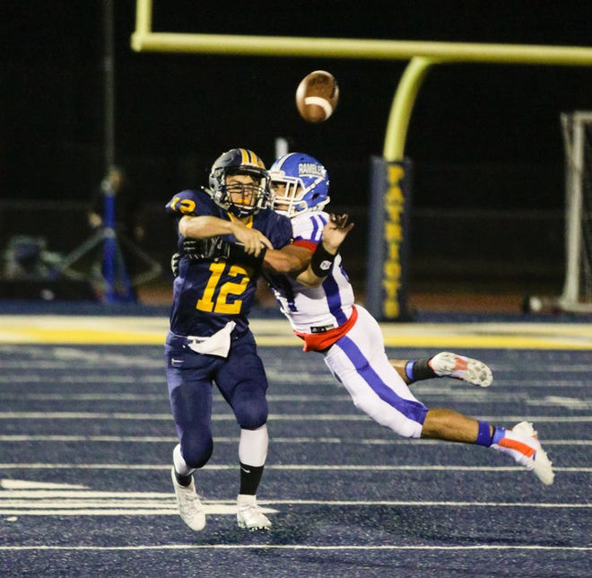 The Carteret and Colonia high school football teams met Friday night at Colonia Patriots Stadium.