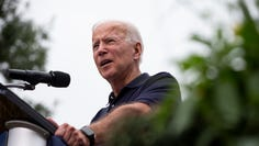 Former Vice-President and 2020 Democratic presidential candidate Joe Biden speaks during the Polk County Democrats Steak Fry in Water Works Park on Saturday, Sept. 21, 2019 in Des Moines.