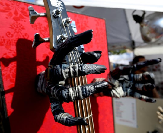 One of the many unique items for ale during the DIY festival like these monster guitar grips for sale at one of the many artists selling their wares during the festival in downtown Ferndale on Saturday, September 21, 2019